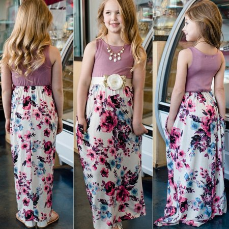 Hot Girls In Dresses (HOT Mother And Daughter Sleeveless Anchor Girls Holiday Beach Boho maxi)