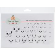 Peachy Keen Stamps Clear Face Assortment 32/Pkg-Black Eyed Critters