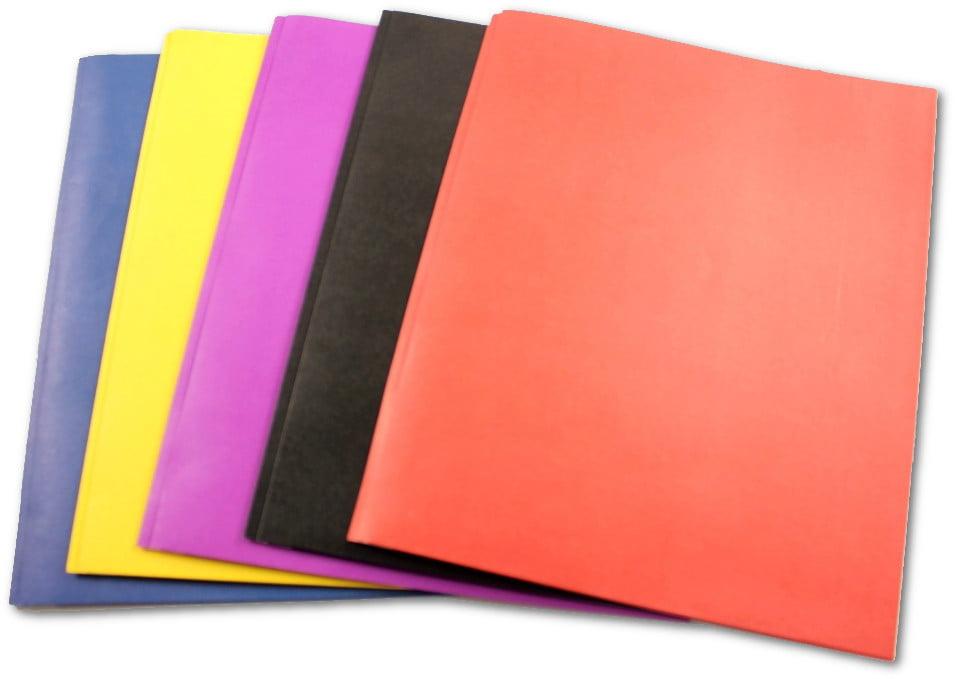 5 Each. Purple Two-Pocket Folders