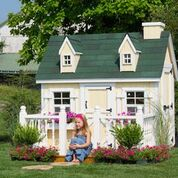 Cape Cod Playhouse DIY Kit 4x6 w Floor Kit by Little Cottage Company