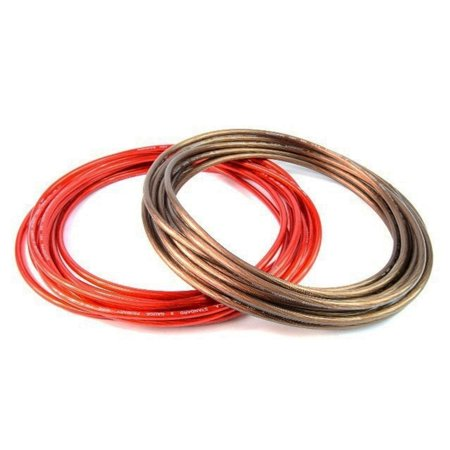 8 Gauge 25ft Black & 25ft Red Power/Ground Wire for Car Audio Amplifier