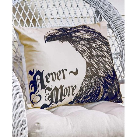 The Lakeside Collection Nevermore Halloween Accent Pillow