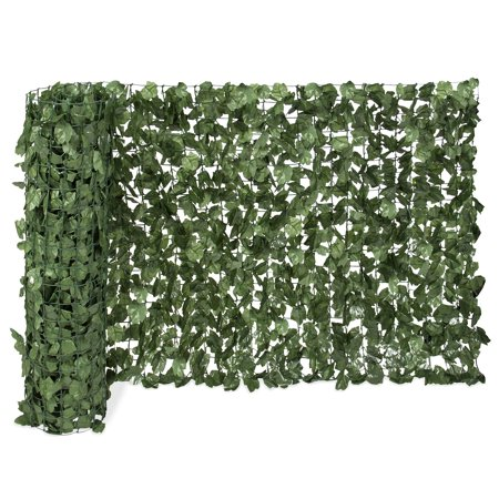 Best Choice Products Outdoor Garden 94x59-inch Artificial Faux Ivy Hedge Leaf and Vine Privacy Fence Wall Screen, Green ()