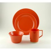 Galleyware 1034-L 16 Solid Color Melamine Non-skid 16 Piece Dinnerware Gift Set