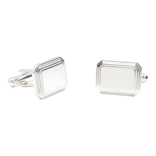 Men's Ravi Ratan Rectangular Engravable Cufflinks