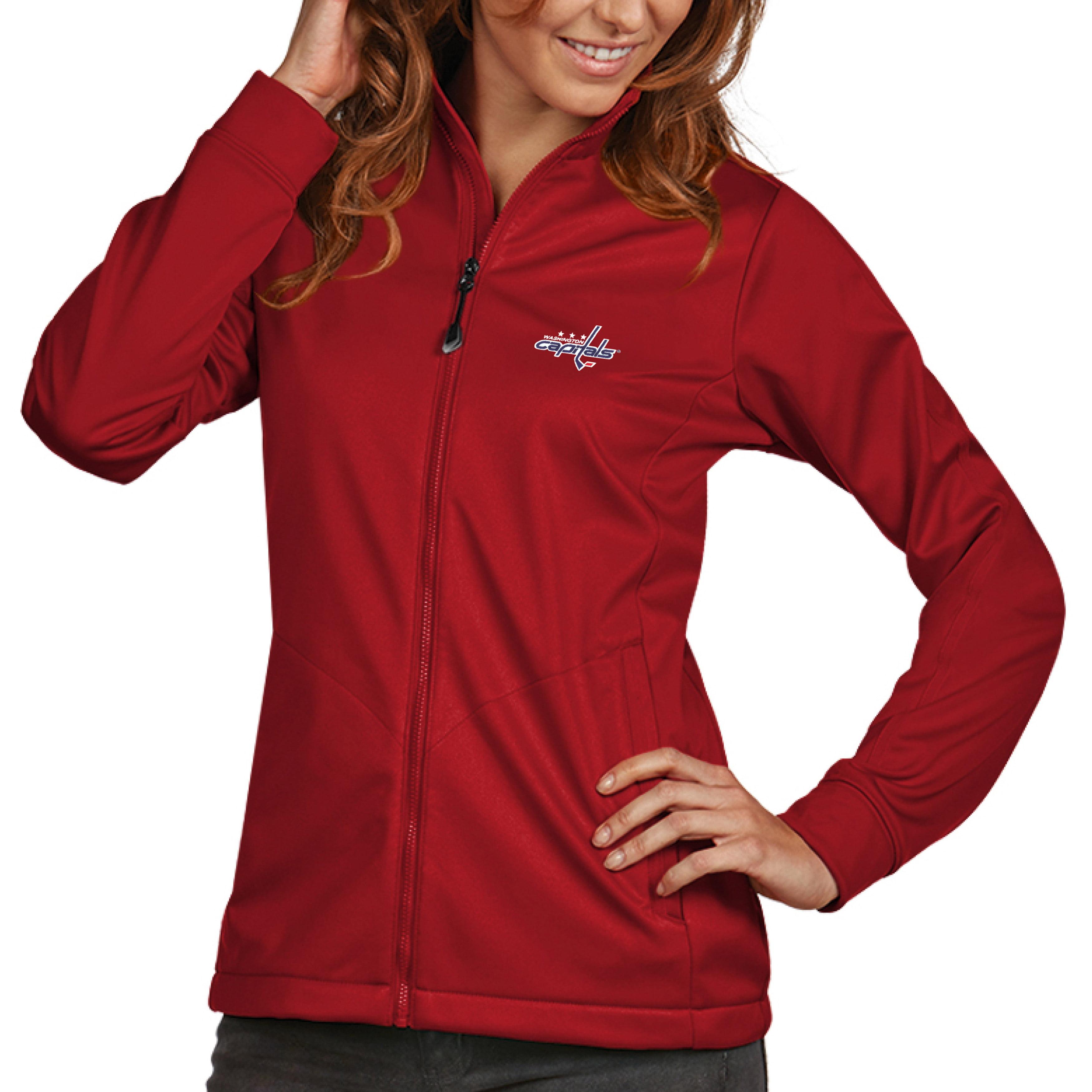 Washington Capitals Antigua Women's Golf Full Zip Jacket Red by ANTIGUA GROUP/ 22534
