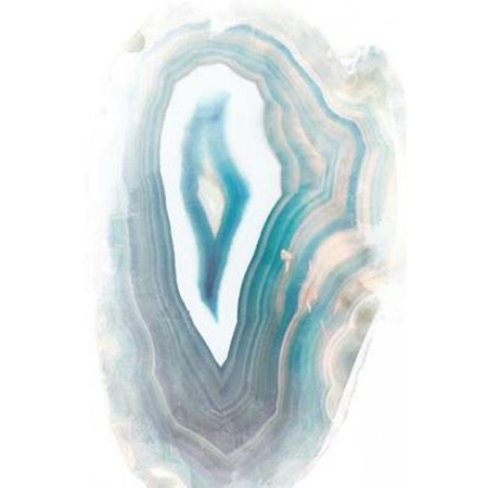 Blue Watercolor Agate Rectangle Poster Print by Susan Bryant, 12 x 18 - Small