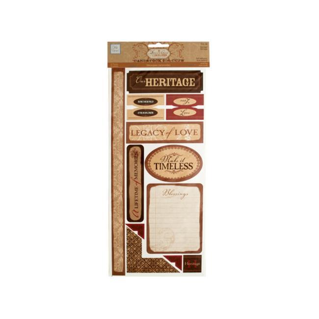 Bulk Buys CG587-96 Heritage Self-Adhesive Cardstock Die-Cuts