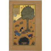 How a Braggart was Drowned in a Well  Folio 33v from a Haft Paikar (Seven Portraits) of the Khamsa (Quintet) of Nizami