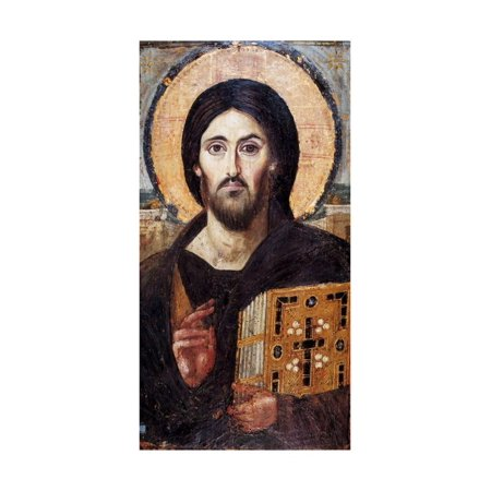 Christ Pantocrator Jesus Christian Byzantine Icon Print Wall - Christ Pantocrator Icon
