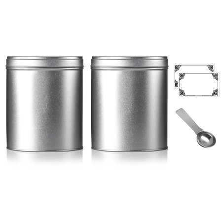 Oval Stackable Tea Tin Canister Containers 5.4