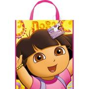 "Large Plastic Dora the Explorer Favor Bag, 13"" x 11"""