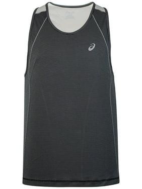 9932df49a9a48 Product Image ASICS Men s Shosha Striped Running Sleeveless Shirt (Black