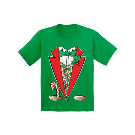 Awkward Styles Christmas Tuxedo Costume Christmas Shirts for Kids Santa Funny Kid's Christmas Holiday Shirt Christmas Costume Shirts for Boys Christmas Shirts for Girls Youth Christmas - Skirts For Kids
