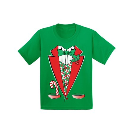 Awkward Styles Christmas Tuxedo Costume Christmas Shirts for Kids Santa Funny Kid's Christmas Holiday Shirt Christmas Costume Shirts for Boys Christmas Shirts for Girls Youth Christmas Tee