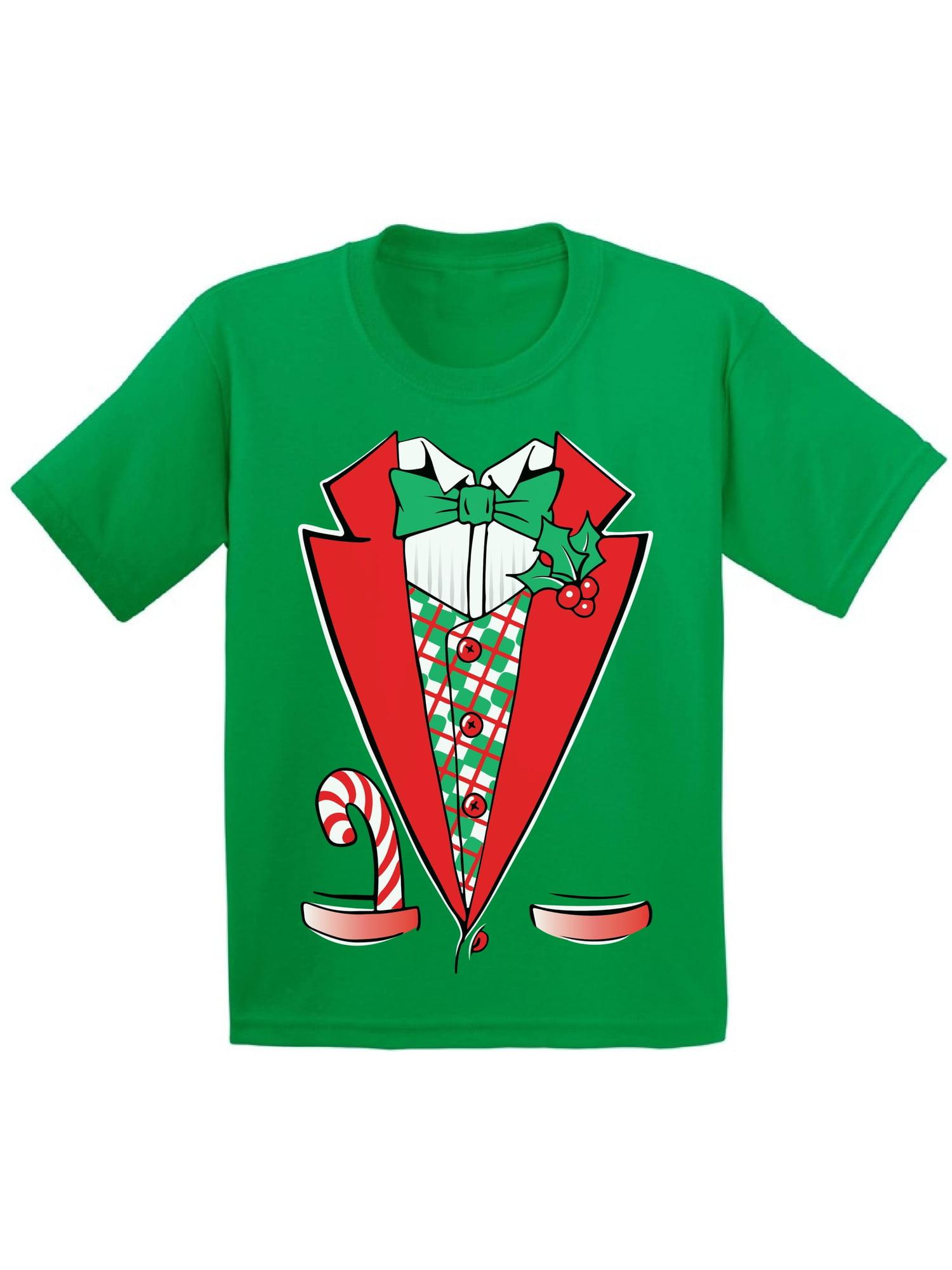 Awkward Styles Christmas Tuxedo Costume Christmas Shirts for Kids Santa Funny Kid's Christmas Holiday Shirt Christmas Costume Shirts for Boys Christmas Shirts for Girls Youth Christmas Tee