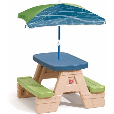 Step2 Sit and Play Junior Picnic Table with Removable Umbrella ()
