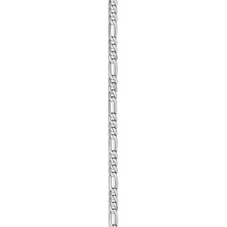 14k or blanc GT 2,75mm cha?ne plat Figaro - image 2 de 5