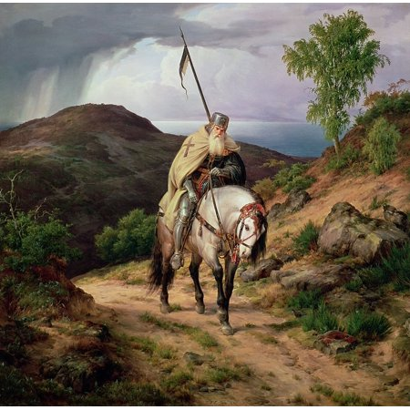 Laminated Poster The Return Of The Crusader Karl Friedrich Lessing 1835 Poster Art Great Paintings Artwork S Poster Print 24 x 36