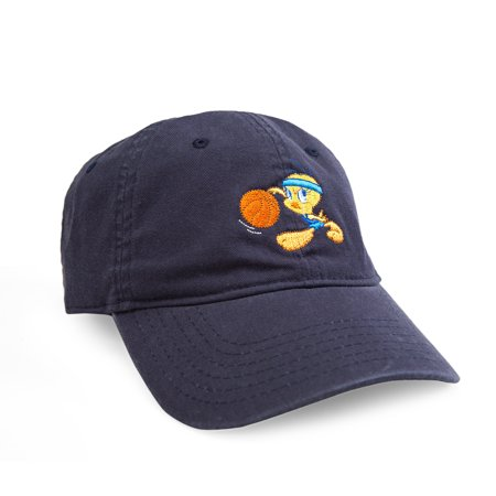 Looney Tunes Embroidered Tweety Adjustable Washed Baseball Cap