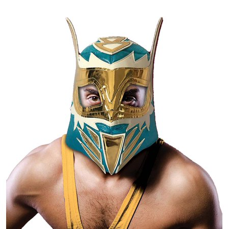 Adult Costume Wrestling Mask - Warrior - Lucha Libre Halloween Costume