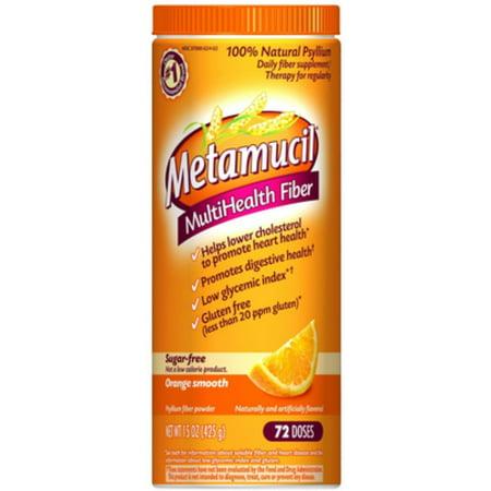 2 Pack - MultiHealth Fiber Powder, Sugar Free, Orange Smooth 15 oz