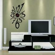 Modern Home Self Adhesive DIY 3D Wall Clock - Splat