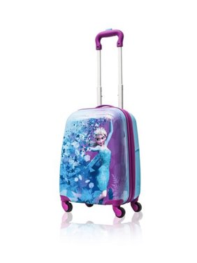 f0aaa09694e1 Product Image Disney Frozen Hard Side Spinner Trolley 18 Inch Luggage for  Kids  Blue