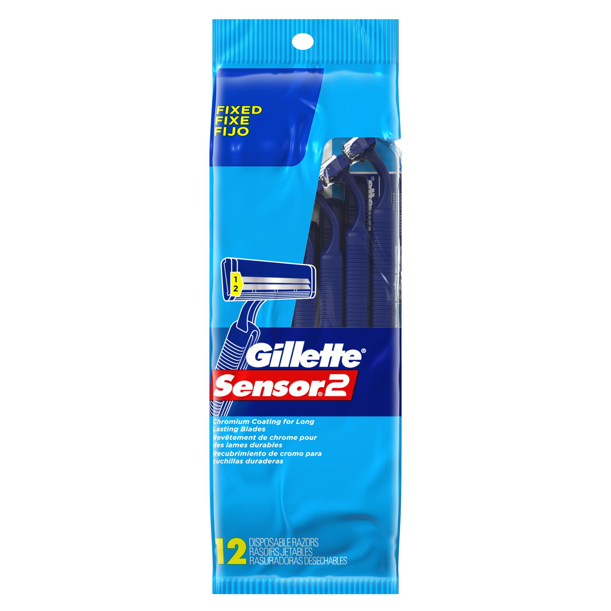 Gillette Sensor2 Disposable Razors, 12 Count