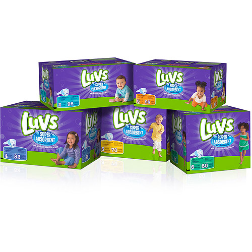 Luvs Diapers Size 2, 96CT