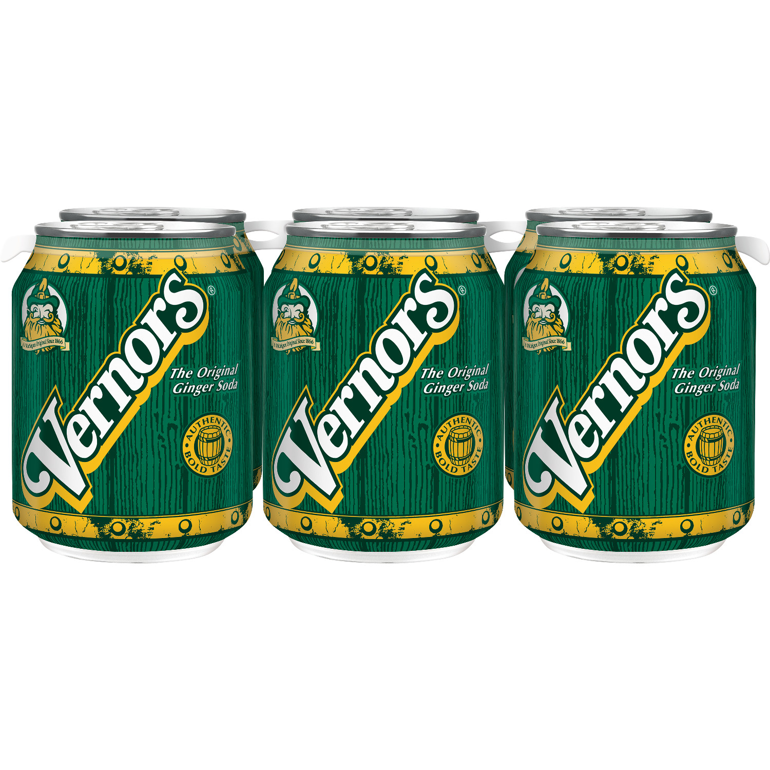 Vernors Ginger Soda, 8 fl oz, 6 pack