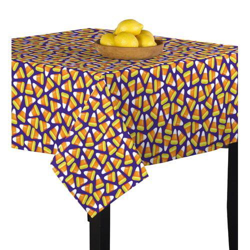 The Holiday Aisle Chriopher Halloween Candy Corn Table Cloth
