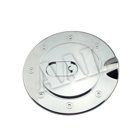 AAL Premium Gas Tank Fuel Door Cap Chrome Cover For 2002 2003 2004 2005 2006 2007 2008 Dodge Ram 1500 Chrome Trim Fuel Door Cover