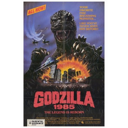 Godzilla 1985 Movie Poster Print  27 X 40