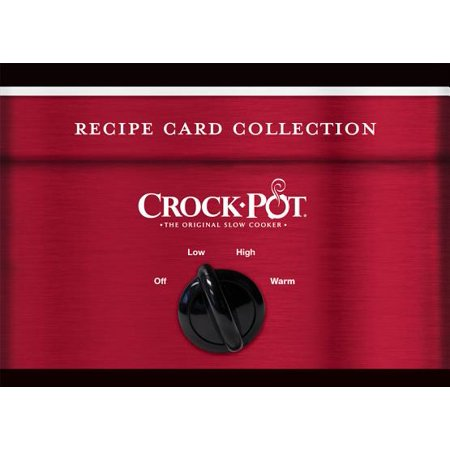 Recipe Card Tin Crock Pot Red