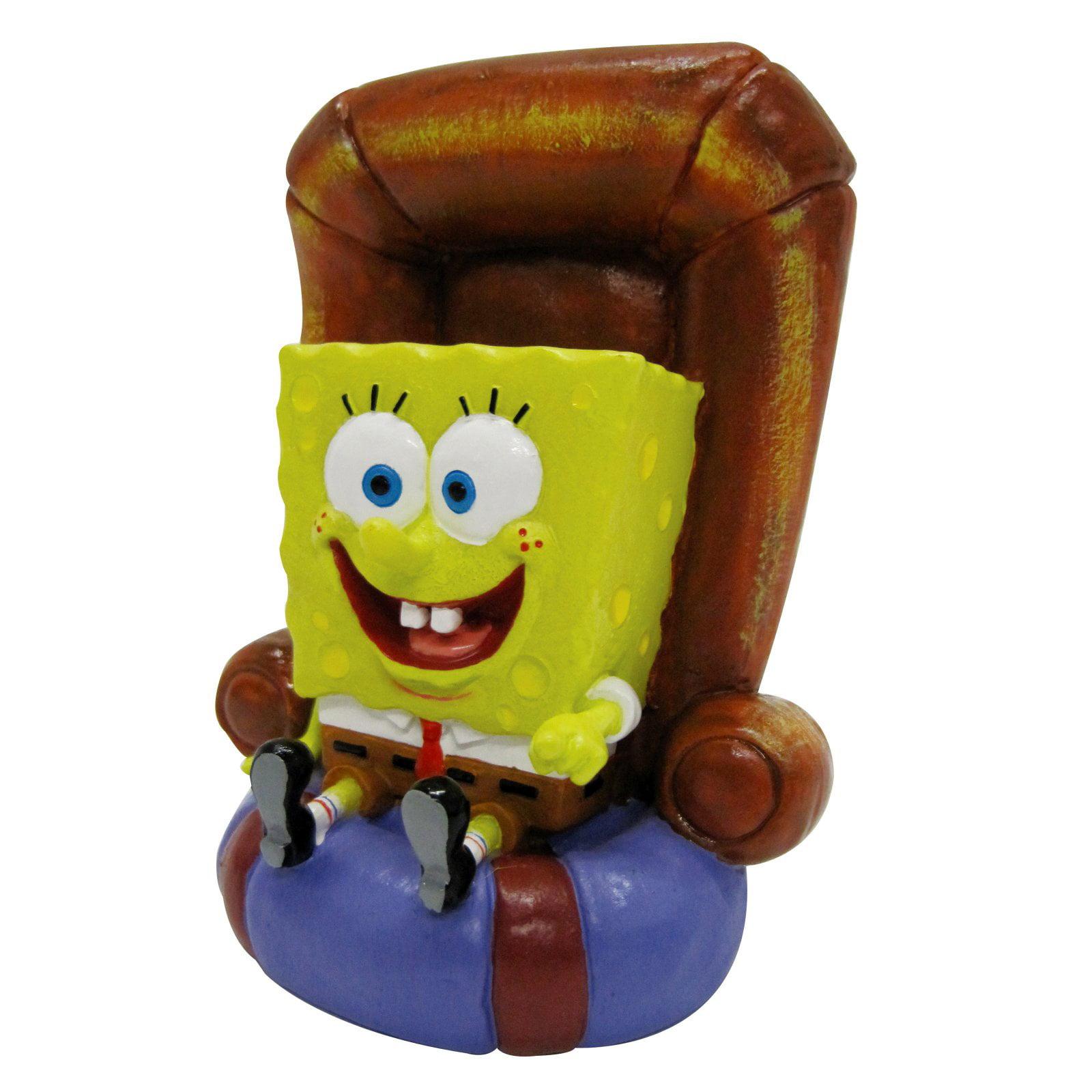 Penn Plax SpongeBob in Chair Aquarium Figure