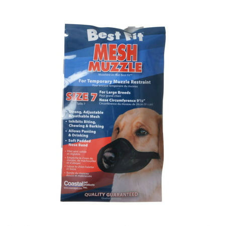 Nylon Fabridog Best Fit Muzzle Size 7 (Dogs 80-100 lbs) Best Fit Dog Muzzle