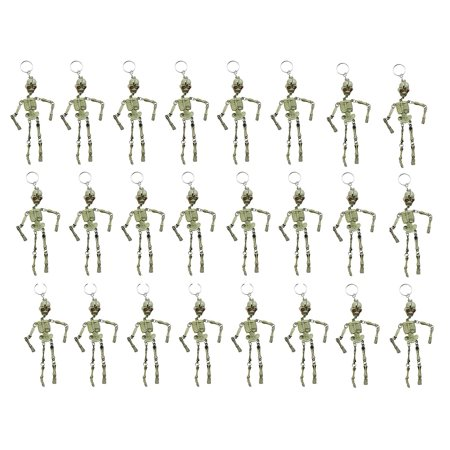 Bulk 24 Skeleton Keychains - Fidget Set for Doctors and Medical Professionals - Halloween Novelty Goodie Bag Filler Trick or Treat (2 DOZEN) - Kid Friendly Halloween Treat Ideas