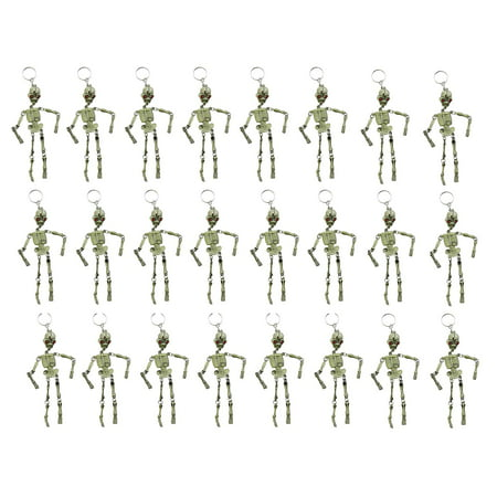 Bulk 24 Skeleton Keychains - Fidget Set for Doctors and Medical Professionals - Halloween Novelty Goodie Bag Filler Trick or Treat (2 DOZEN) - Cute Halloween Classroom Treats