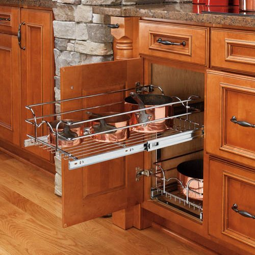 Rev-a-Shelf Pull-Out 2 Tier Wire Basket - 11.75W x 22.125D in.