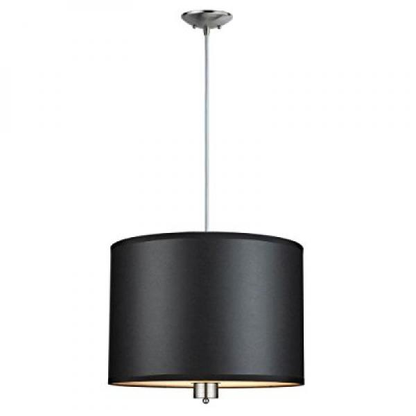Hampton Bay ES1579SBA Murray Collection 3 Light Pendant Brushed Nickel Finish by