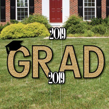 Tassel Worth The Hassle - Gold - Grad Yard Sign Outdoor Lawn Decorations - Graduation Party Yard Signs](Graduation Tassel)