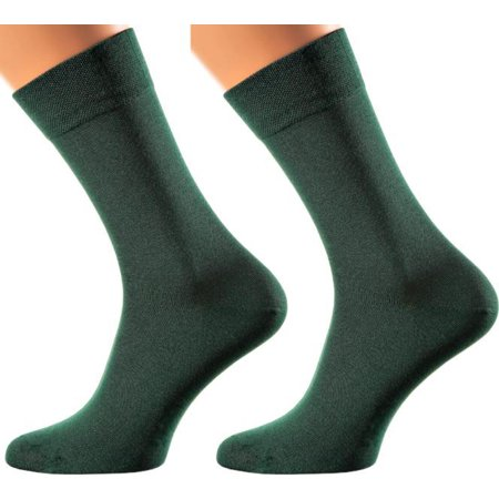 Milan Collection - Bamboo Socks  - Super Breathable - Sweat Defense - Long Lasting - Executive Length (Crew) - S-XL Sizes - Many (Best Long Lasting Socks)
