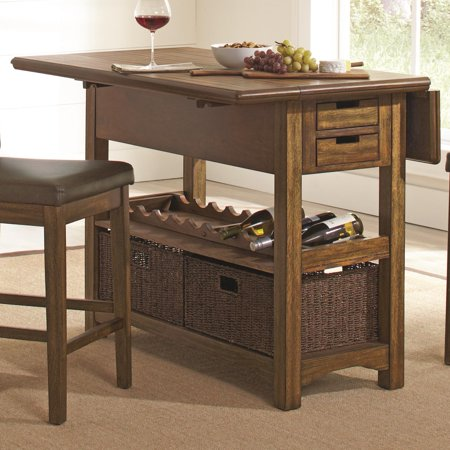 Coaster 105567 Salerno Weathered Wood Counter Height Kitchen ...