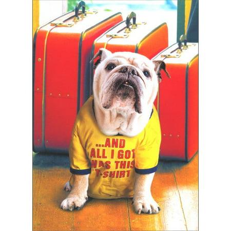 Avanti Press Bulldog in Vacation Shirt Dog Pet Sitting Thank You Card