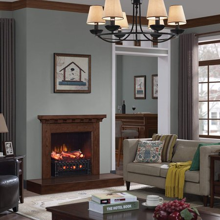 Caesar fireplace fp201r stove adjustable electric log set - Going to bed with embers in fireplace ...