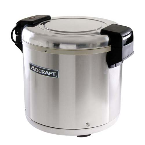 AdCraft 50 Cup 120V 100W Stainless Steel Rice Warmer RW-E50