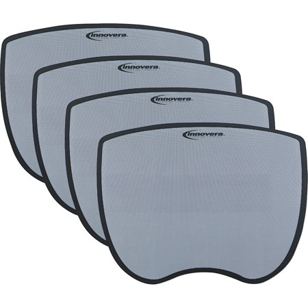 Innovera Ultra Slim Mouse Pad, Nonskid Rubber Base, Bundle of