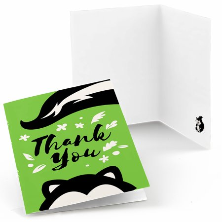 - Little Stinker - Woodland Skunk Baby Shower or Birthday Party Thank You Cards (8 count)