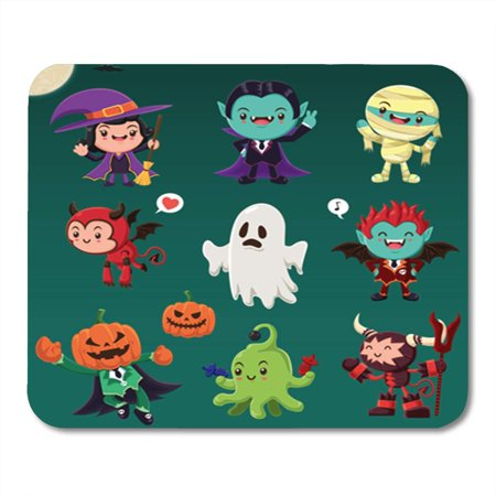 Mummy Pad - KDAGR Vintage Halloween Demon Witch Vampire Mummy Ghost Alien Monster Mousepad Mouse Pad Mouse Mat 9x10 inch